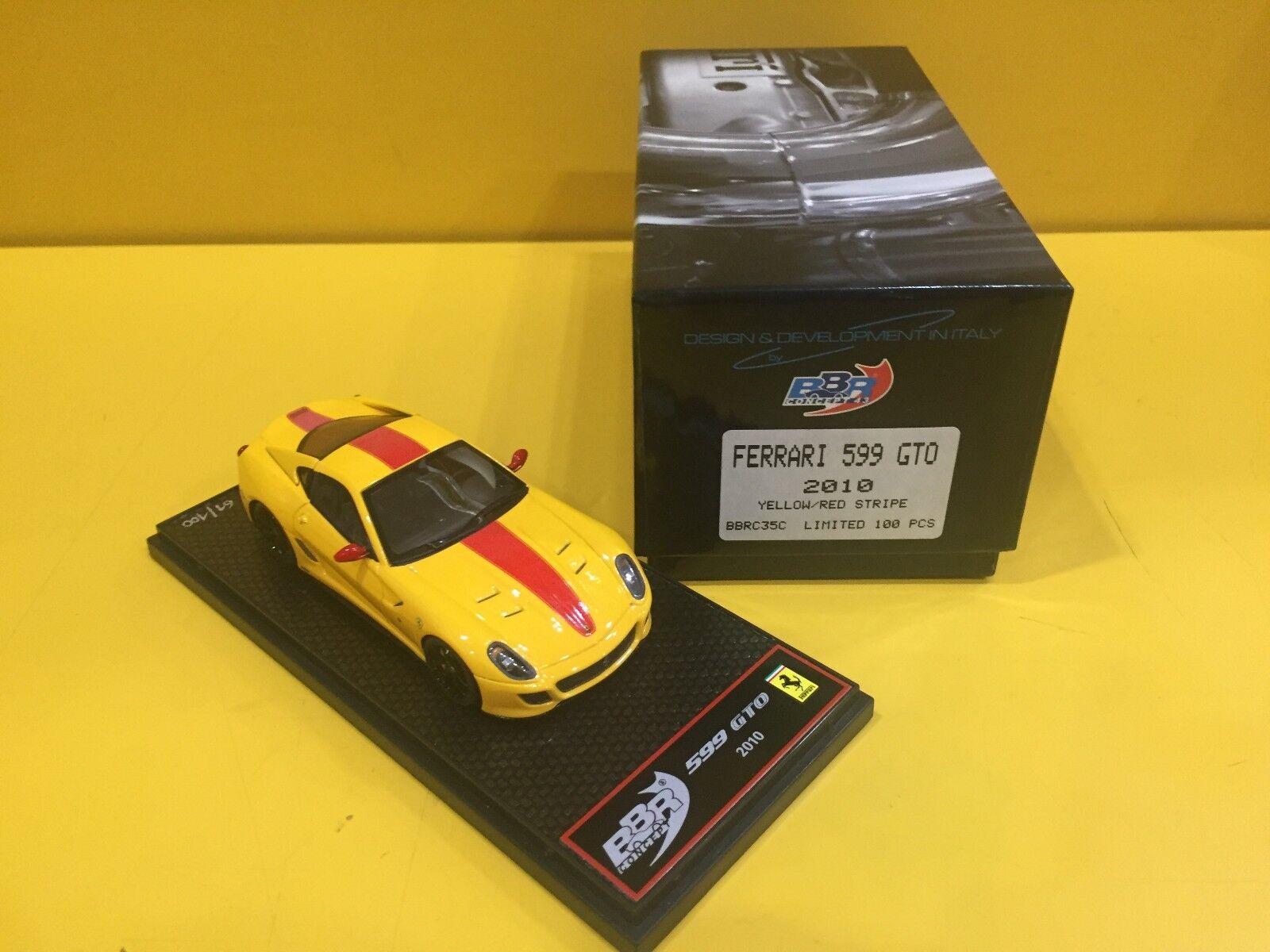 BBR MODELS BBRC35C - Ferrari 599 GTO 2010 jaune   rouge Stripe