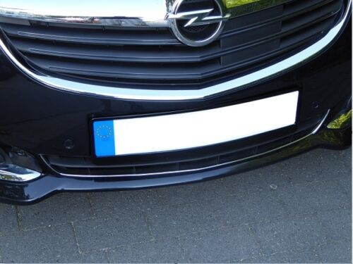 Chromstrebe für Opel Insignia A Facelift 06//13 bis 04//17 Chrom Tuning Stoßstange