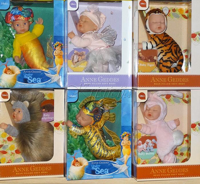 Anne Geddes Bambole Selezione Under The Sea ; Fagioli Farciti Collezioni Nuovo