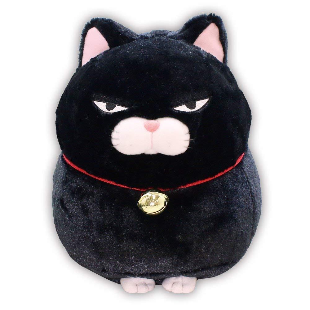 Plush Toy HIGE MANJYU KUROMAME 13 cm Cat Japan AMUSE KAWAII Stuffed F/S