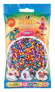 Hama 1000 Midi Bügelperlen 207-92 Mix 92 gestreift Ø 5 mm Perlen Steckperlen