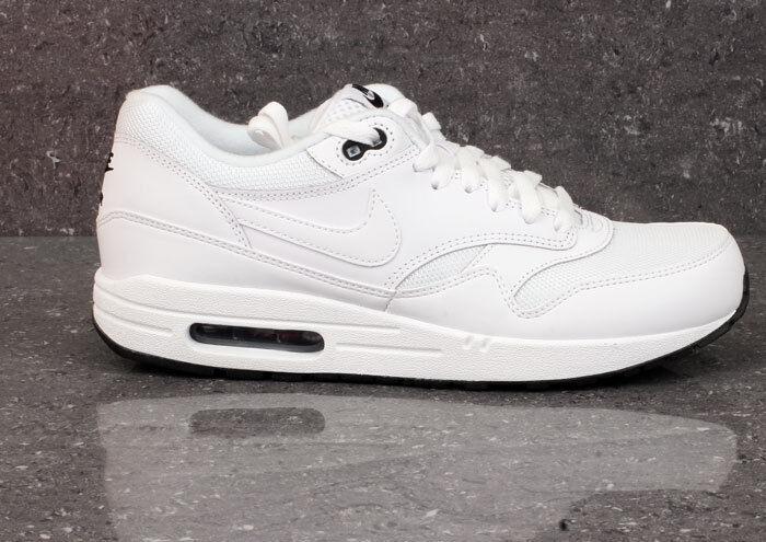 Nike Air Max 1 Triple blanc Essential noir 90 Obliger Trainers Sneakers