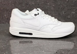 half off 53da2 1fd25 Image is loading Nike-Air-Max-1-Triple-White-Essential-Black-