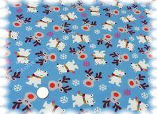 Snow Bear Sweat Jersey blau Hilco 50 cm Winterstoff Kinderstoff Sweaty nähen