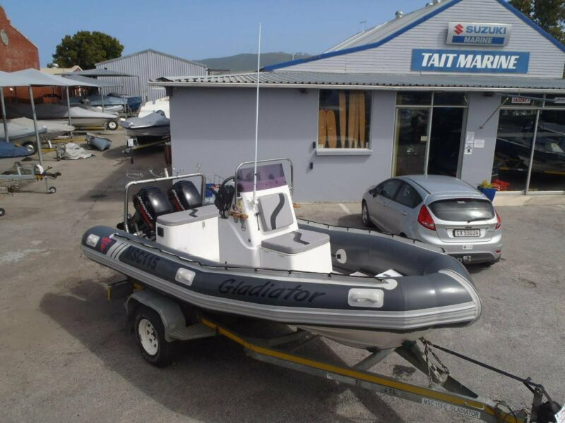 5.2m Ferral Inflatable with 2 x 40HP Mercury 2 Stroke