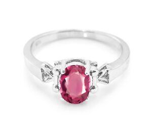 925-Sterling-Silver-Red-Rhodolite-Garnet-Ring-Natural-Size-4-5-6-7-8-9-10-11