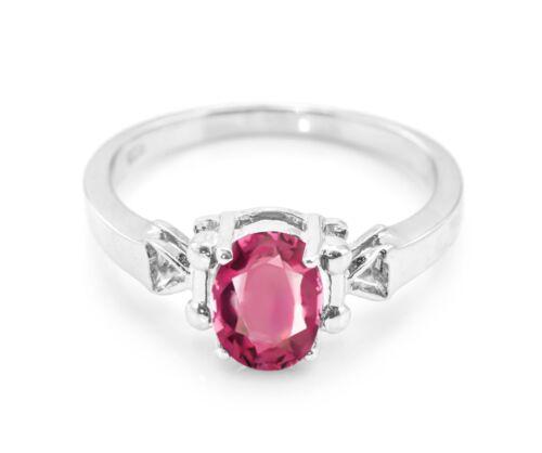 925 Sterling Silver Red Rhodolite Garnet Ring Natural Size 4 5 6 7 8 9 10 11