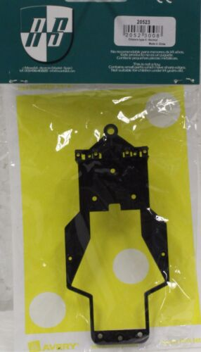 1//32 SLOT CAR PARTS AVANT 20523 ORIGINAL CHASSIS FOR MIRAGE TYPE 5 BLACK NEW