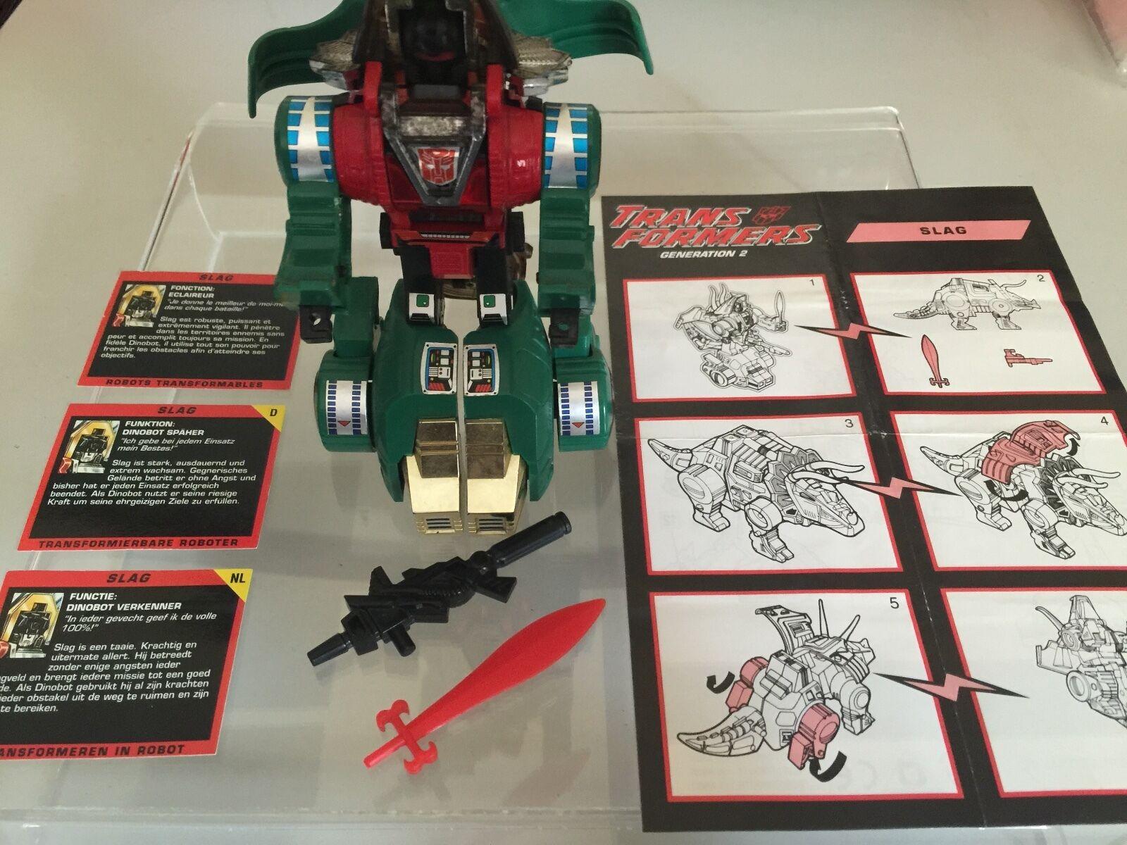 Transformers G2 1993 SLAG complete verde dinobot figure figure figure EUROPEAN hasbro e1f707