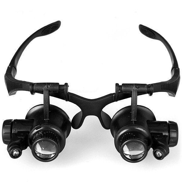 LED Magnifier Eye Glasses Loupe Lens Jeweler Watch Repair 10x 15x 20x 25x