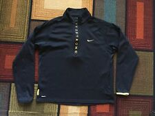 Nike Livestrong Dri Fit 1/4 Zip PullOver Long Sleeve Jacket Sweater Black XL