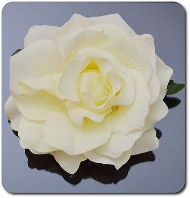 XL Haarblume Haarclip  Ansteckblume Haarspange Brosche Rose 10-11cm Fascinator