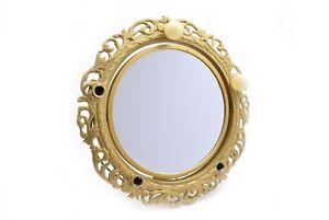 Vintage Gold Two Sided Lighted Mirror Metal Tex Inc Ebay