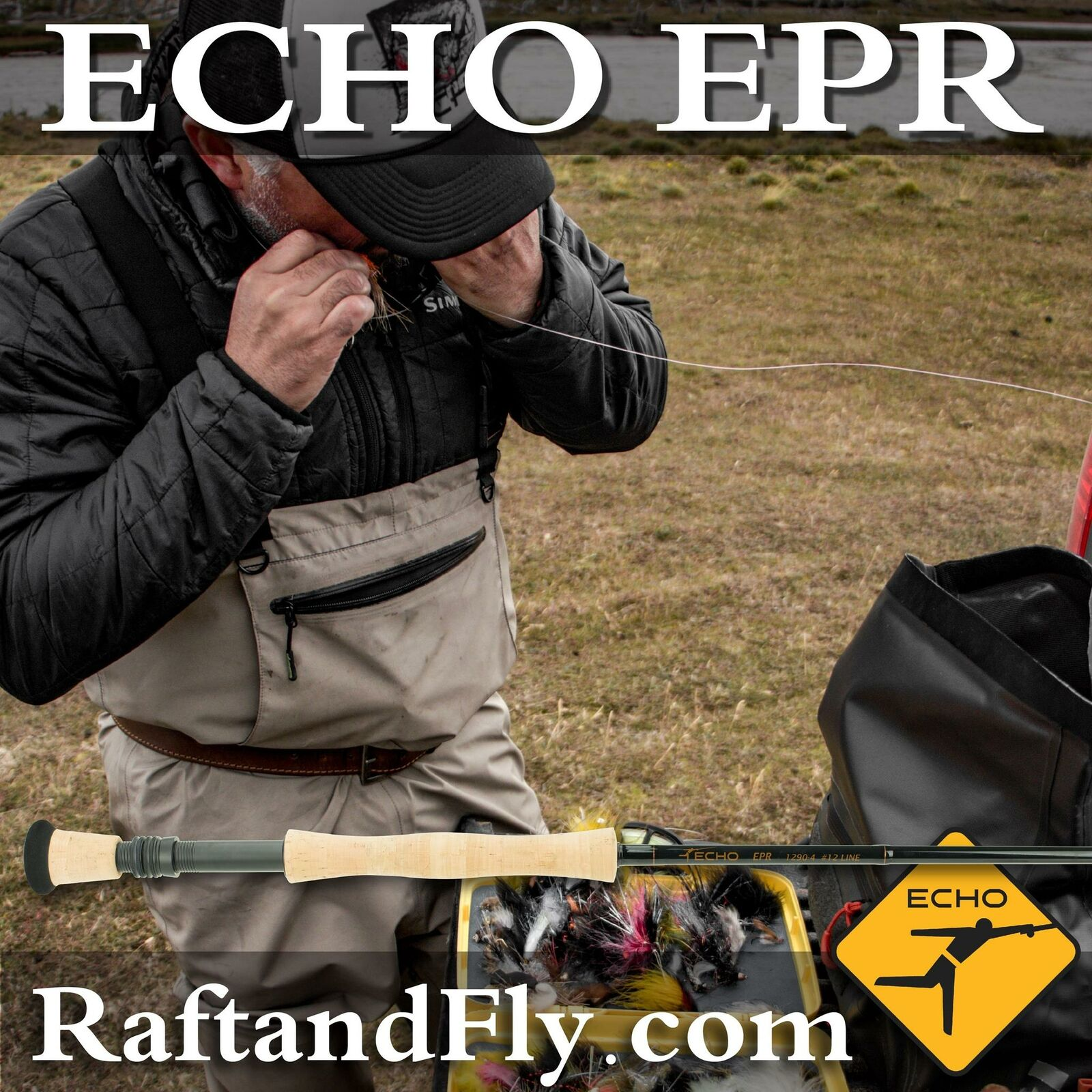 ECHO EPR 8wt Fly Rod designed by Pat Ehlers - Lifetime Warr. - FREE SHIPPING
