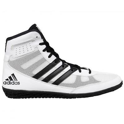 Adidas Mat Wizard III White/Black Wrestling Shoes Sizes 7, 8, 9, 10, 11, 12, 13