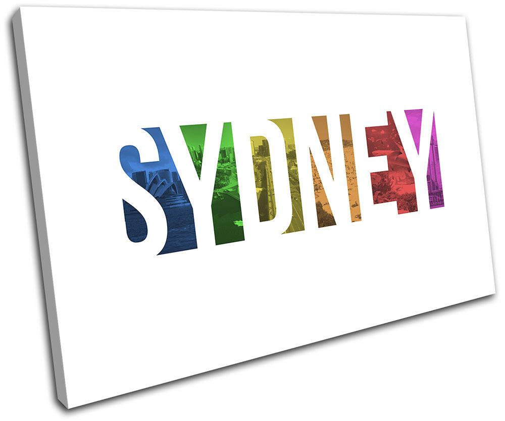 Sydney Colourosso Typography City SINGLE TELA parete arte foto foto foto stampa 93a865