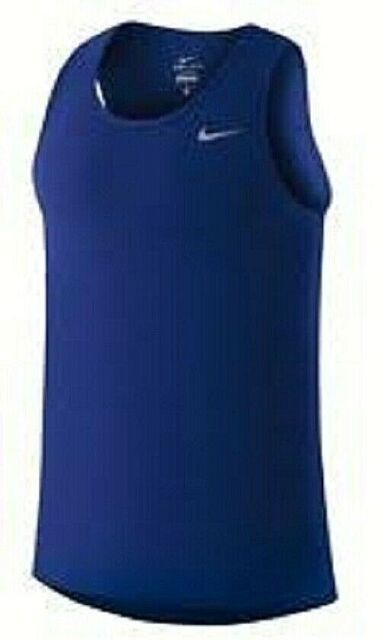 NEW AIR JORDAN BRAND Dri Fit Tech Dry Running Training Casual Tank Top men Blue