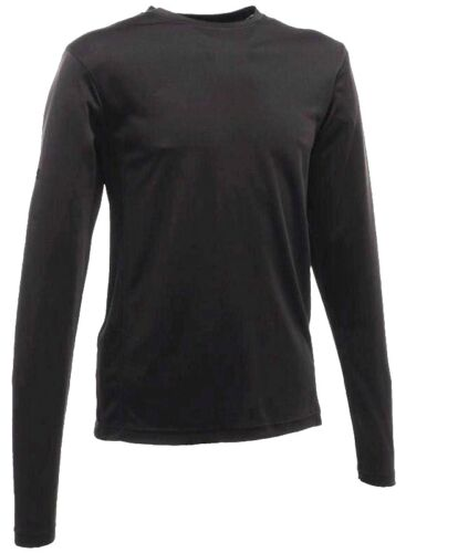 GENTS BASE LAYER TOP 4 SEASON Mens XL black thermal baselayer long sleeve tshirt