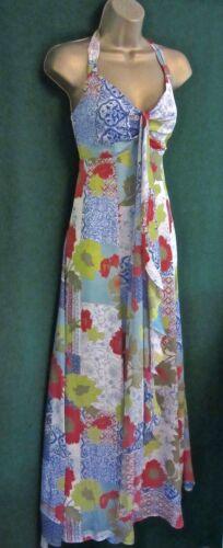 floreale alto verde a collo rosso Tamelia motivo Uk14 con Monsoon abito Maxi blu YATCqwxBq