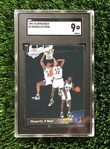 1992-93-Upper-Deck-1-Shaquille-O-039-Neal-RC-Rookie-HOF-SGC-9-Compare-To-PSA-9