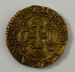 Spanish Gold Doubloon - Coins/Pirates/<wbr/>Treasure/Spani<wbr/>sh/Gift/Presen<wbr/>t Bullion