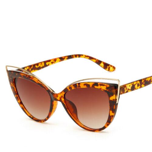 100/% UV400 Damen Cat Eye Sonnenbrille Katzenauge Vintage Verspiegelt Brillen