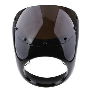 "Retro Cafe Racer Style 7/"" Headlight Handlebar Fairing Wind Screen Universal"