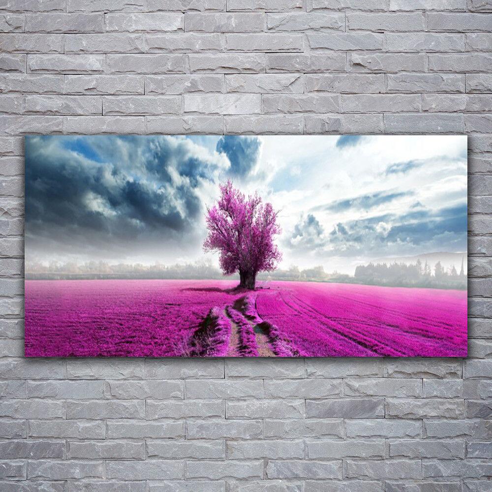 Photo sur toile Tableau Image Impression 120x60 Nature Prairie Arbre