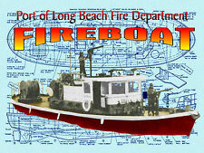 Model Boat Plans RADIO CONTROL FIREBOAT  BUILDING NOTES & F/S PLANS on Cd