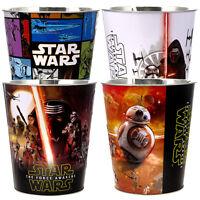 Set Of 4 Star Wars Bucket Kids Trash Waste Basket Popcorn Storage Ice Container