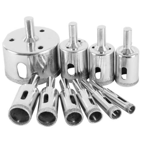 10pc 8-50 mm Diamond Drill Bit Cutter Trou Scie Outil Set Pour Verre Carrelage Céramique ////