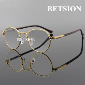 59d6f22625 Image is loading Retro-Fashion-Gold-Eyeglass-Frames-Metal-Acetate-Full-