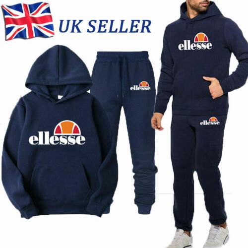 Ellesse Men Women Tracksuit Set Hoodie Top Bottoms Jogging Sportswear Gym UK