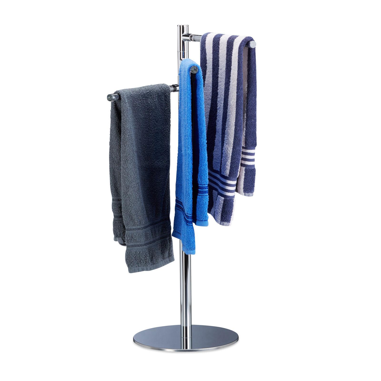 Handtuchhalter freistehend Handtuchständer Handtuchstange Badetuchhalter Metall