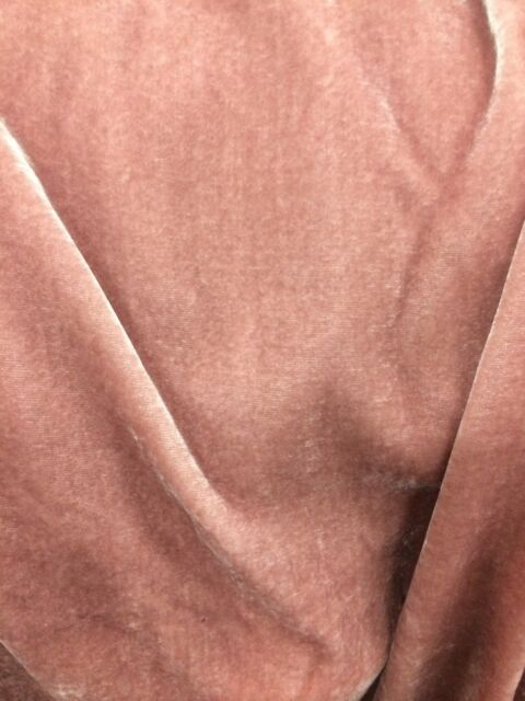 "Pink Silk Velvet Soild 54"" Wide  Silk Blend Fabric Sold By The Yard"