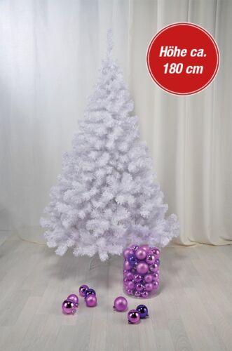 Künstlicher Weihnachtsbaum weiß 180cm Tannenbaum Christbaum Kunstbaum Kunststoff