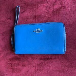 Blue Leather Peacock Trainer Trainer Wristlet Peacock 4HxqYpwg