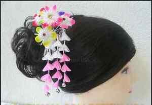 Japanese Geisha Hand Made Tsumami Kanzashi Pink Flower