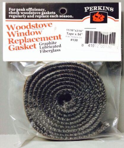 AWP130 Self Stick Adhesive Gasket Wood Pellet Stove Window Glass Door Black Tape