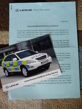 LEXUS RX300 POLICE PRESS RELEASE Brochure connected  jm
