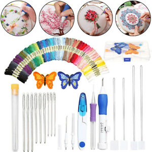 DIY-Embroidery-Pen-Knitting-Sewing-Kit-Punch-Needle-Set-50-Threads