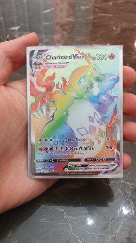 Charizard VMax Rainbow 074/073 Pokemon Champions Path Fresh Pull