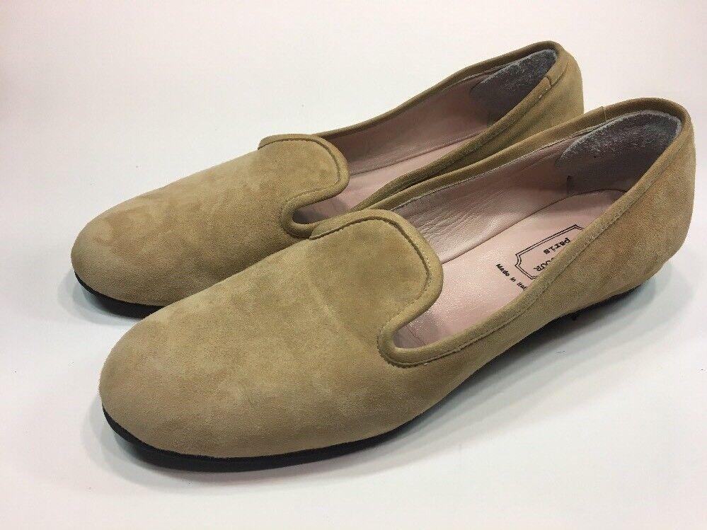 Rue du Jour Italie Tan Suede Casual Mocassins chaussures Femme Taille 9.5 M impeccable