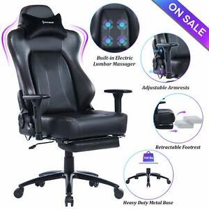 Strange Details About Von Racer Big Tall Massage Reclining Gaming Office Chair With Metal Base Black Inzonedesignstudio Interior Chair Design Inzonedesignstudiocom