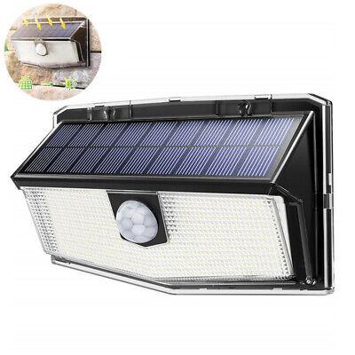 2er LITOM Solarleuchte 300 LED mit Bewegungsmelder Wandlampe Außen Gartenlampe