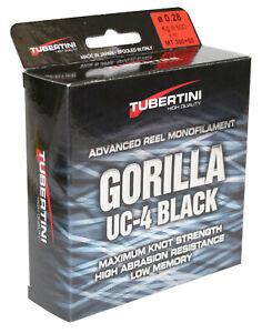 Tubertini UC 4 Gorilla Schnur 350m Monofile Angelschnur zum Forellen-fischen