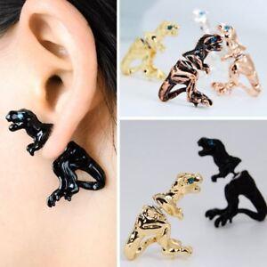 Men Cool Punk 3D Scorpion Animal Pierced Stud Earrings Crystal Ear Cuff Party