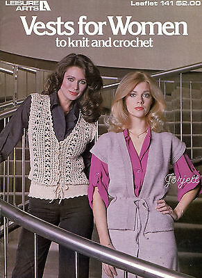 Vests for Women classic crochet and knit patterns