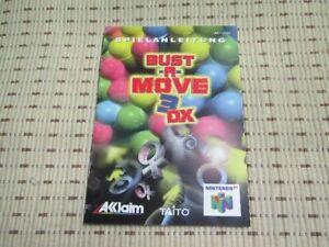 Bust-A-Move 3 DX Spielanleitung / Anleitung Nintendo 64 N64