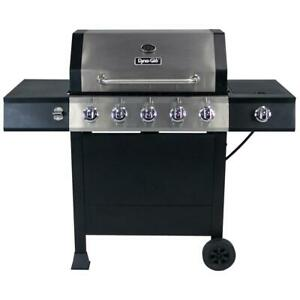NEW!! Outdoor Camping 5 Burner Gas Propane Portable Bbq Cooker Grill S-Steel